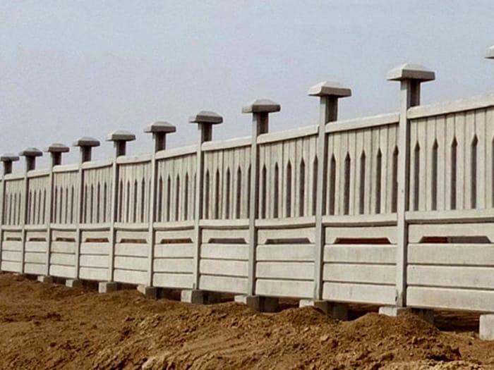 دیواره محوطه پیش ساخته بتنی 1 - شرکت عمود گستر قم
